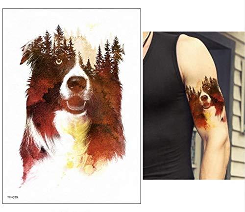 BLOUR Nuevo Tatuaje Temporal de Cuentos de Hadas de Unicornio Azul de Dibujos Animados para niños, Tatuaje Flash Impermeable, Pegatina para niña, bebé, Arte Corporal, Caballo