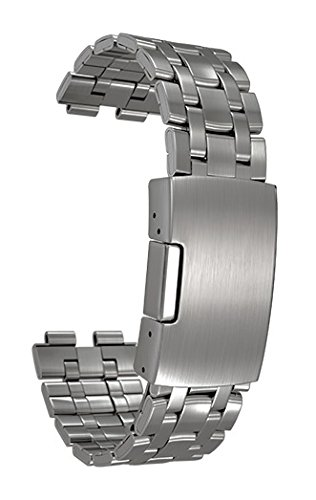 Pebble Steel Metal Watchband - Matte Black