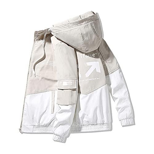 Primavera y otoño ropa de los hombres chaqueta abrigo con capucha slim fit parker