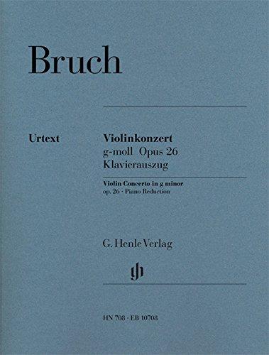 HENLE VERLAG BRUCH M. - VIOLIN CONCERTO G MINOR OP. 26 Klassische Noten Violine