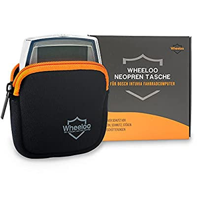 Wheeloo Neopren Schutzhülle für Bosch Intuvia I Displayschutz für E-Bike Display I wasserdicht und stoßfest I Fahrradcomputer Schutztasche wasserdicht I Hülle Schutztasche Cover