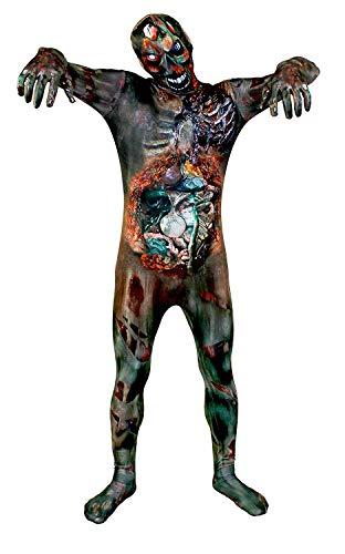 Zombie Piel Traje Disfraz Halloween - Undead ZOMBIE estampado piel traje - Hombre Mujer disponible en 5 Tallas - Pequeño-Mediano-Grande-XGrande - XXL - XXLARGE