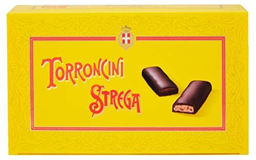 Torroncino Mignon Strega Pz.12 Made in Italy. Torroncini Piccoli Friabili allo Strega ricoperti di Cioccolata Fondente. Idea Regalo o da condividere con Familiari ,Amici e le Persone Amate.