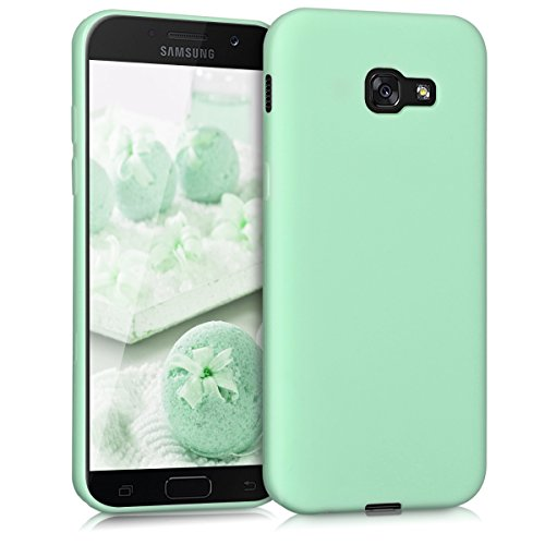 kwmobile TPU Silicone Case Compatible with Samsung Galaxy A5 (2017) - Soft Flexible Protective Phone Cover - Mint Matte