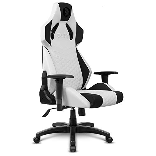 EMPIRE GAMING – Racing 900 Silla Gaming Sillón de Despacho Gamer - Asiento Ergonómico Cojín Lumbar Integrado – Respaldo Reclinable Apoyabrazos Regulable – Semipiel Negro