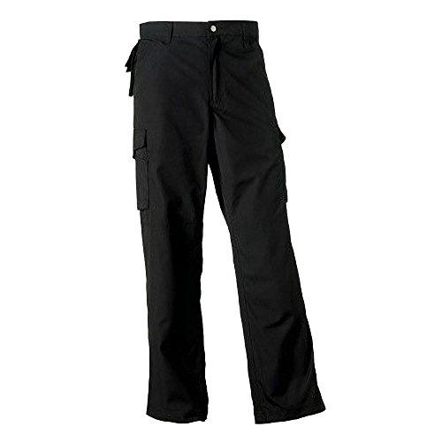 Russell Work Wear Heavy Duty Hose für Männer, Lange Beinlänge (W38 x Lang) (Schwarz)