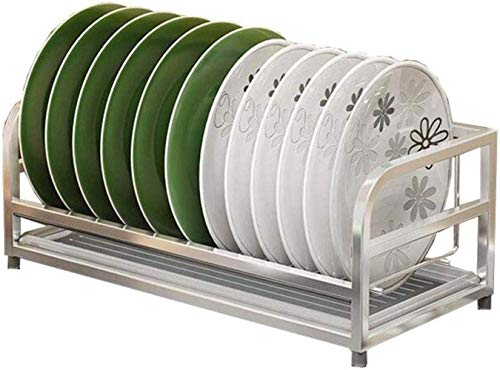 HFTD Rejilla de escurrimiento de Platos de conveniencia 304 de Acero Inoxidable de una Sola Capa, Rejilla de Cocina, Cuenco de Secado, Cesta de Drenaje para el hogar, Duradera