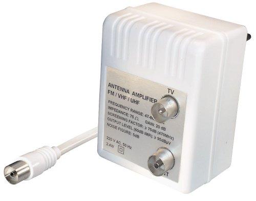 Transmedia FP9iL 2 Geräte Antennenverstärker (47-862MHz, Verstärkung 2X 15dB)