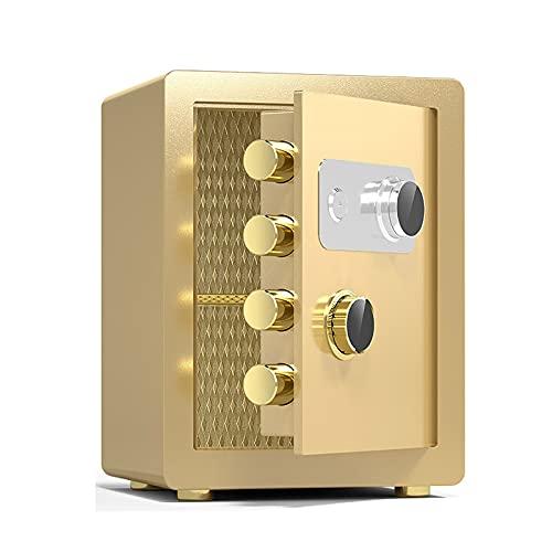 Cajas Fuertes Hua Caja Fuerte Ignífuga De Acero con Cerradura con Código, Archivador De Seguridad Antirrobo para Oficina En Casa, Fácil De Operar, Dorado (Size : 40x36x32cm)