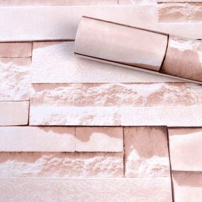 Tapete PVC selbstklebende Tapete Schlaf Schlafzimmer Wohnzimmer Tapete Kinderzimmer Wall Garden Vintage Ziegelsteinholzmaserung Wand QITAO (Color : 23, Dimensions : 10mx45cm)
