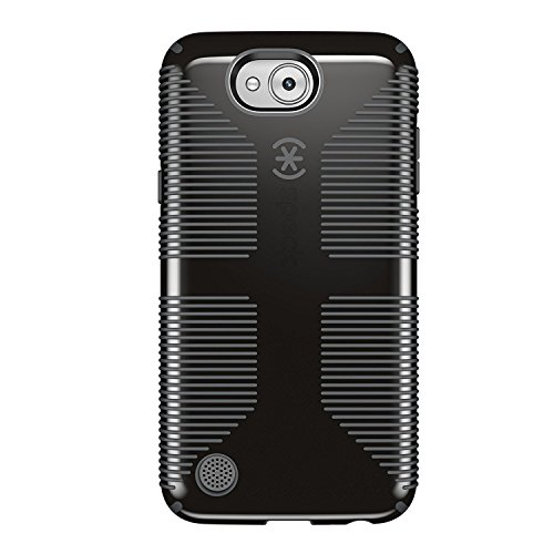 Speck Products CandyShell Grip Case for LG X Power 2 (LG Fiesta LTE, LG X Charge) Smartphone, Black/Slate Grey