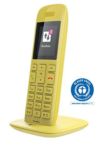 Telekom Speedphone 11 (wahlweise nutzbar am IP Anschluss oder am analogen a/b Port) gelb