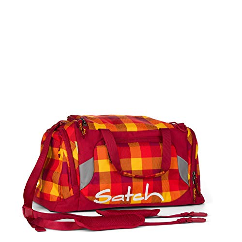 SATCH Firecracker Kinder-Rucksack, Karo Rot Gelb