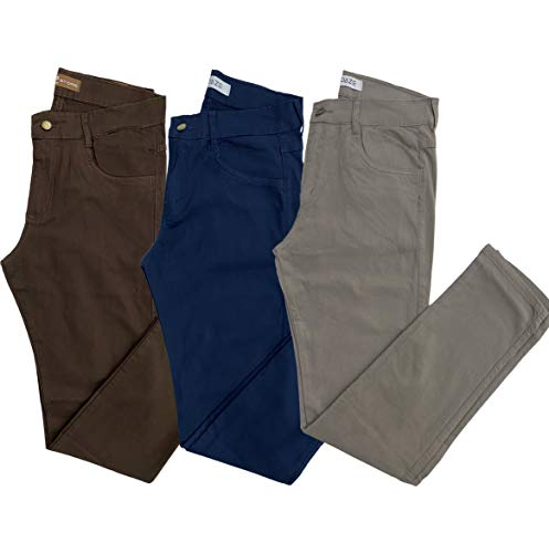 Calça Masculina Skinny Jeans (MARROM MARINHO CAQUI, 40)
