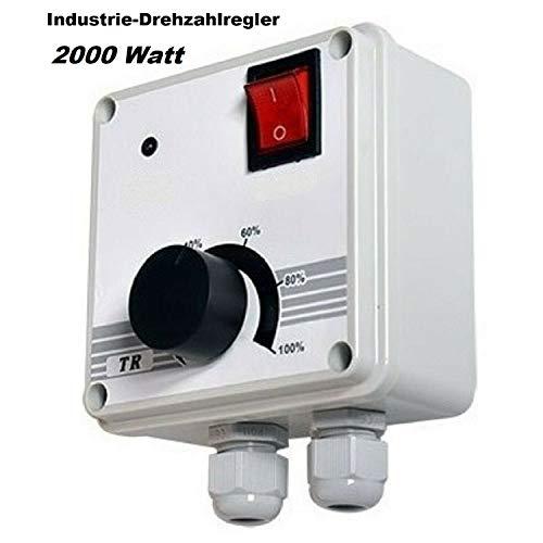 Industrie Drehzahlregler 2000 Watt Drehzahl- Regler Drehzahlsteuerung für Ventilator, Gebläse, Lüfter, Ventilatoren 230V /10A Drehzahlregler, Drehzahlsteller, Spannungsregler, Motor Motoren 230 Volt V
