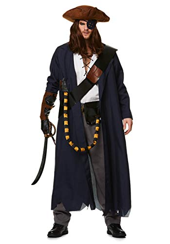 Karnival 82217 Man Piraat Voyager Kostuum, Mannen, Multi, Medium