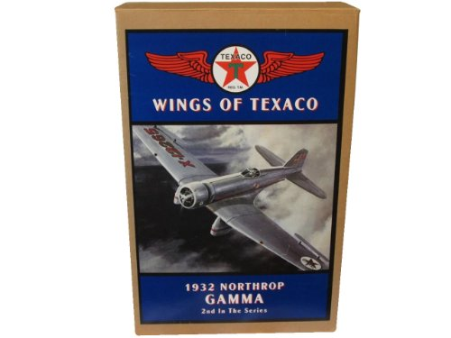 Wings of Texaco 1932 Northrop Gamma Airplane Coin Bank -2nd In The Series