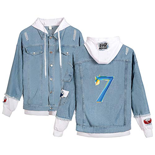Landove BTS Map of the Soul 7 Spijkerjas Unisex Denim Jacket Hoodie