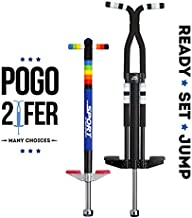New Bounce Pogo Stick Set - Set of two Ultimate Pogo Sticks W/ Silicone Grips - Sport For Ages 5-9 And Pro Sport For Ages 9 And Up