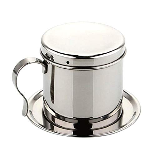 LNYJ Macchina da caffè a Goccia in Acciaio Inossidabile Manuale Moka Piano Cottura Caffettiera a Goccia Vietnamita Macchina da caffè Tipo di Filtro Teiera caffettiera Filtro salvagoccia per caffè