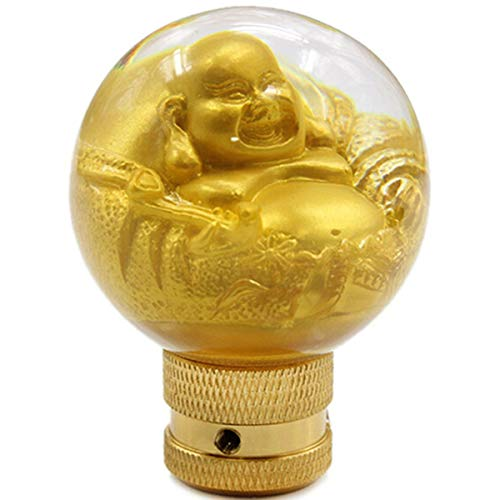 Isabelvictoria Laughing Buddha Resin Car Gear Shift Knob Shifter Lever Universal Fit for Automatic Manual Transmission Gear Shift Knob Multi-Color Mixed Multi-Color Mixed