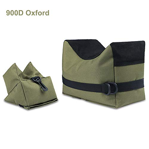 Twod 900D Oxford Outdoor Shooting Rest Bags Rest Front & Rear Support SandBag Stand Holders with 900...