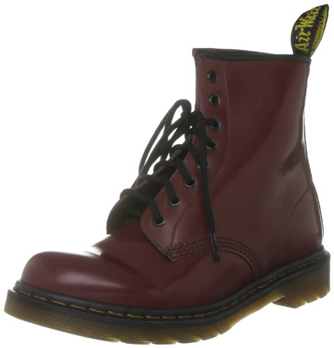 Dr. Martens 1460 Milled Smooth, Scarpe Stringate Basse Brogue Unisex-Adulto, Rosso (Bordeaux), 40