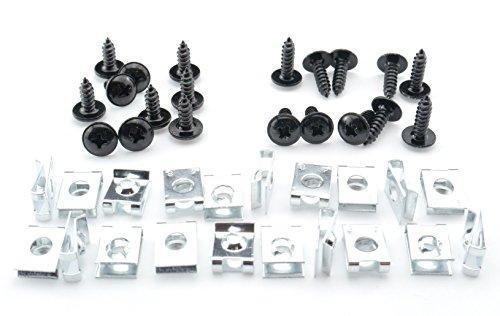 Tech-Parts-Koeln Schrauben Verkleidung Clipse 5mm Roller Quad Motorrad M5 schwarz Klemmen Satz