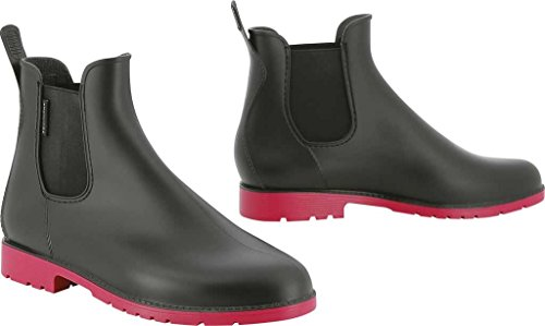 Equi-Theme PVC Synthetik Jodhpur-Boots, Schwarz, 48