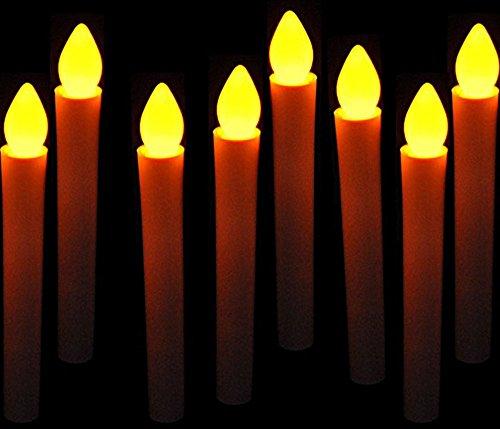 Mercury 電池 式 LED ろうそく (8本セット) 火 使わない 安全 火気 厳禁 の 部屋 でのご使用に最適 蝋燭 ローソク お彼岸 お盆 安心 安全