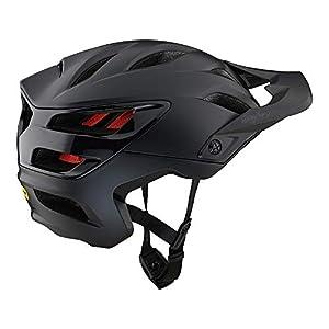 Troy Lee Designs Adult   All Mountain   Mountain Bike Half Shell A3 Helmet Uno W/MIPS (Black, XL/XXL)