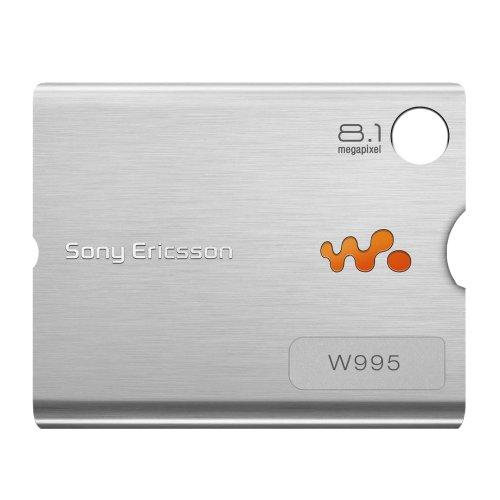 Original Sony Ericsson Akkudeckel für Sony Ericsson W995 - silver / silber (Akkufachdeckel, Batterieabdeckung, Rückseite, Back-Cover)