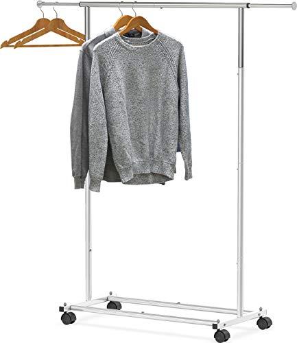Simple Houseware Standard Rod Garment Rack, Silver