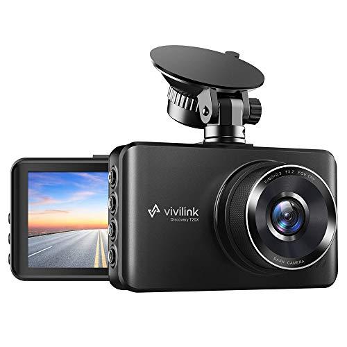 ViviLink T20X Dashcam 2K Caméra de Voiture Embarquée, Camera Voiture Enregistreur Jour et Nuit, Vision Nocturne, WDR, Parking Mode, Grand Angle 170° G-Senseur, Boucles d'Enregistrement, Écran IPS 3''