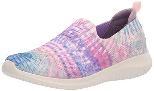 Skechers Women's Ultra Flex Sneaker, Lavender/Multi, 5