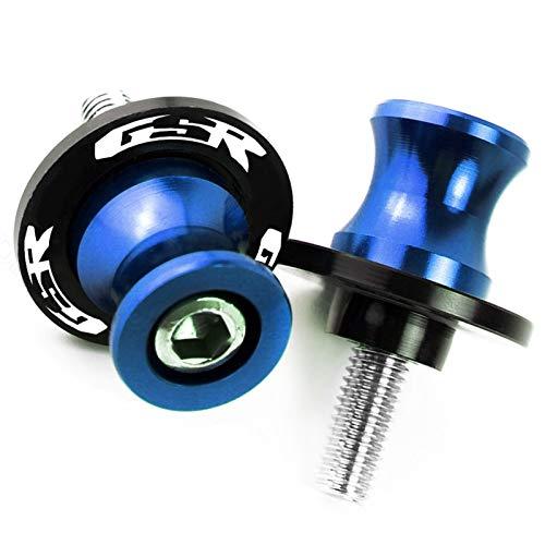 Motorrad Swingarm Sliders Spulen Motorradzubehör CNC Aluminium M8 Swingarm Spulen Slider Standschraube für GSR 750 600 400 GSR400 GSR600 GSR750 8mm (Color : 8MM Blue)
