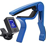 Capo Guitar Capo with Guitar Tuner Clip-On Tuner for Acoustic Electric Guitar Ukulele