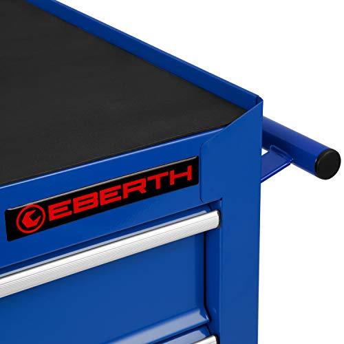 EBERTH Werkstattwagen (5 kugelgelagerte Schubfächer, abschließbar, Antirutschmatten, 4 Räder, Feststellbremse, pulverbeschichtet) - 3