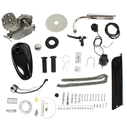 2 Stroke 26' Bicycle Motorized 50cc Petrol Gas Engine Kit Silver