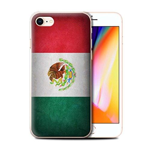 Telefoonhoesje voor Apple iPhone SE 2020 Vlaggen Mexico/Mexicaans Ontwerp Transparant Helder Ultra Slim Dun Hard Back Cover
