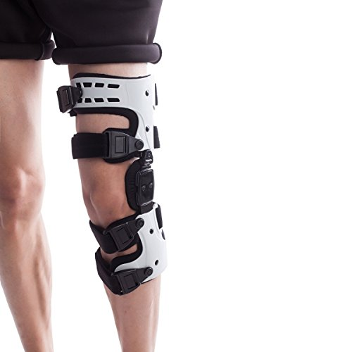 Orthomen OA Unloader Knee Brace - Support for Arthritis Pain, Osteoarthritis, Cartilage Defect Repair, Avascular Necrosis, Tibial Plateau Fracture(Medial/Inside -Left)