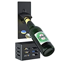 [FACILE À UTILISER] Avec cet ouvre-bouteille, vous pouvez ouvrir la capsule de votre bouteille de bière d'une seule main. Le bouchon de bouteille tombera dans le panier de réception. Vous avez juste besoin de profiter de votre bière. [CONCEPTION DE D...