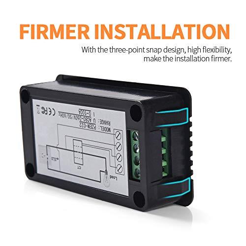 MICTUNING Pantalla LCD Multímetro Digital de CA Voltímetro del Amperímetro con...