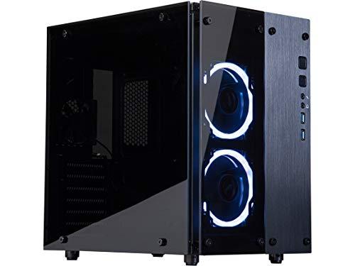 Rosewill Cullinan PX RGB Cube Mini ITX/MicroATX/ATX Mid Tower Gaming PC Computer Case, RGB Fans