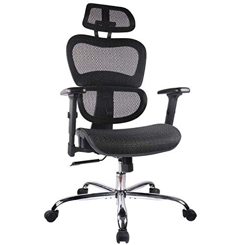 Home Office Chair Mesh Ergonomic Computer Chair with 3D Adjustable Armrests Desk...