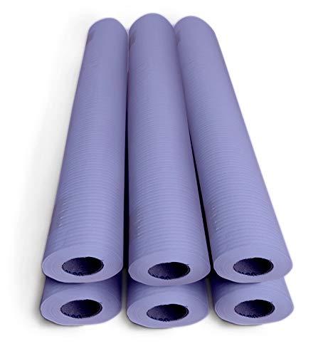 Papel camilla ECOLÓGICO color LILÓN. Caja con 6 Rollos, medidas: 0'59 x 75 metros, 1'5 kg. Sin precorte. Oblite