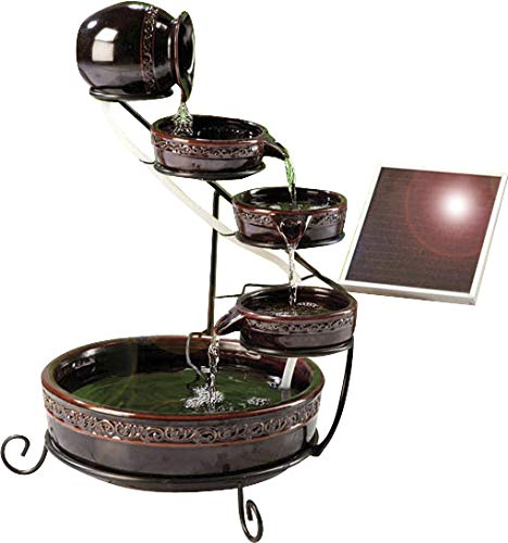 Solar Kaskaden Brunnen, braun glasiert