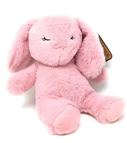 Why Should You Buy Kelly Toy Pink Long Ear Bunny with Rattle and Crinkle Ear for Baby, Toddler - 13....