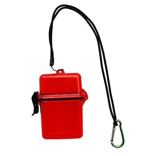 B Blesiya Contenitore per Kayak, Dry Storage Box Impermeabile Contenitore di Immersioni Subacquee - Rosso