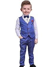 Nwada Trajes para Niño Ropa Chaleco Corbata de moño Camisas y Pantalones Conjuntos Esmoquin Chaquetas de Traje y Pantalones